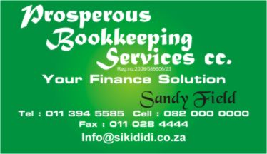Change consultants products signs east rand south africa prosperous bookkeeping services business cards reheart Images